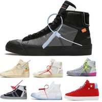 the latest d3eef 667ce Off OW Blazer Scarpe da basket Sneakers Mid Grim Reaper All Hallows Eve  Serena Williams Pasqua Rebel 2019 Nero Uomo Donna Scarpe da Natale