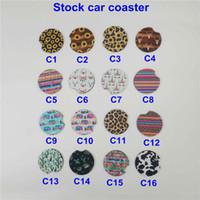 Wholesale favor coasters for sale - Group buy 18style baseball softball design Neoprene Car Coasters Car Cup Holder Coasters for Car Cup Mugs Mat Contrast Home Decor Accessories ST185