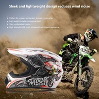 conjuntos de corrida unisex venda por atacado-Respirável do capacete da motocicleta 3PCS / SET M / L / XL Lightweight completa Rosto Motorcycle Racing Segurança Unisex ABS Shell Moto Helmet