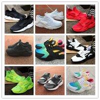 goldhuarache großhandel-2019 Mode Huarache Ultra Herren Damen Laufschuhe Top Qualität Rot Grün Dreifach Weiß Schwarz Huaraches Turnschuhe Sport Outdoor Schuh
