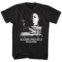 ingrosso auto hip hop-Halloween Hey maglietta Michael Myers auto Harajuku Hip Hop Tee Shirt Jerk uomo Uccisioni