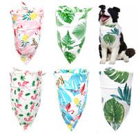 Wholesale scarf bandana style resale online - Dog Cat Bandana Bibs Tropical Rainforest Style Cute Puppy Dog Scarf Adjustable Personalized Dog Bandanas Pet Supplier