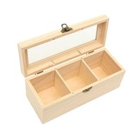 Wholesale post box wood resale online - Wood Caddies Bag Jewelry Organizer Chest Storage Box Compartments Box Wood Sugar Packet Container