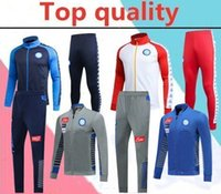Wholesale TOP quality2019 Napoli trackSuit Hamsik Insigne Callejon Zielinski SSC Naples long zipper jacket set Soccer veste suit