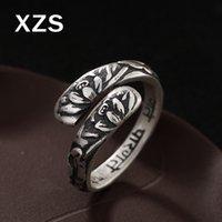 ingrosso porcellana autentica gioielli-100% autentico 999 argento sterling argento tailandese Lotus anelli Cina stile vintage fatto a mano per le donne gioielli regalo di lusso JZC-8032