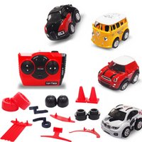 Wholesale best electric car toys resale online - Meibeile Mini Cute Cartoon Acceleration Remote Control Rc Stunt Car With Accessories Best Xmas Gift For Kid Boy Over Years