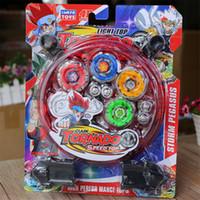 weihnachtsjunge präsentiert großhandel-4D TORNADO Speed Top Beyblade Spielzeug Sturm Pegasus Alloy Gyro Set Beste Lustige Spielzeug Für Jungen Weihnachtsgeschenk