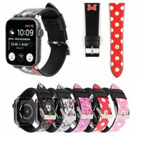 Wholesale dotted bracelet for sale - Group buy For Apple Watch Strap Bands Genuine Real Leather Polka Dot Cartoon Fashion Straps Band mm mm Bracelets