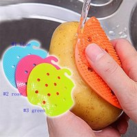 Wholesale easy gadgets resale online - Multi functional Fruit Vegetable Brush Kitchen Tools Easy Cleaning Brush For Potato Kitchen Home Gadgets cooking tool LJJM59 p