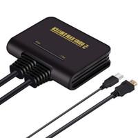 clavier kvm achat en gros de-Commutateur KVM HD à double port 2 en 1 Prise en charge du commutateur HDMI Commutation automatique du clavier par la souris USB KVM