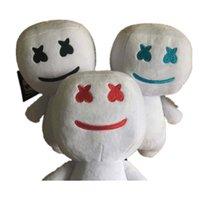 cadılar bayramı eşyaları toptan satış-Marshmello Dolması Oyuncaklar 25 CM Yeni elektronik hece pamuk şeker DJ kulaklık 2019 marshmello peluş oyuncak bebek Cadılar Bayramı hediye çocuk oyuncakları C13