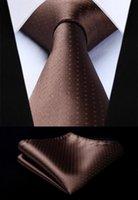 ingrosso cravatta di polka marrone-TD604Z8S Brown Polka Dot 3,4
