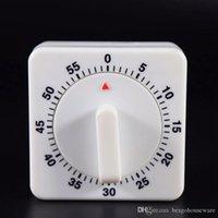 mini temporizador blanco al por mayor-60 minutos temporizador de cocina una cuenta atrás de alarma temporizadores de cocción Recordatorio del hogar blanco del cuadrado del temporizador mecánico Cocina Mini temporizador BH2105 TQQ