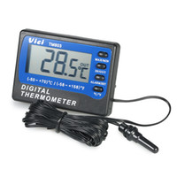 Wholesale digital lcd thermometer freezer resale online - VICI TM803 Large LCD Digital Fridge Freezer Thermometer Temperature Meter with Alarm Measuring Centigrade