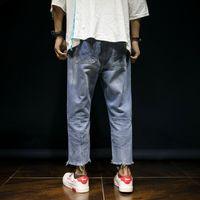 Wholesale wide leg men s jeans resale online – designer Mens Baggy Jeans Men Wide Leg Denim Pants Hip Hop New Fashion Embroidery Hole Ripped Loose Jeans