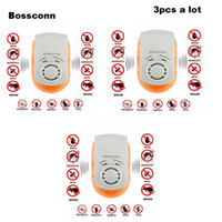 Wholesale electronic rat insect resale online - 3PCS Electronic Ultrasonic Mosquito Repeller Mouse Mosquito Repellent Killer Mouse Cockroach Insect Rats Spiders Pest Control Y200106