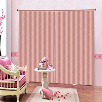 Wholesale light pink window curtains resale online - Photo Custom Light Pink Curtain Pink Floral D Digital print Home Decor For Living Room Bedroom Blackout Window Drapes Panels With Hooks