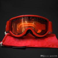 kayak gözlüğü çift cam toptan satış-Paintball CS Sports İçin Kırmızı Motosiklet Gözlüğü Motokros Gözlük Yarışı Koruyucu Dişli Bisiklet Maske yeni Serin FW15 Sup Gözlükler Kayak Gözlüğü