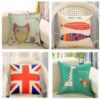 a711d5c5536fe3 Rabatt modern cushions for sofas - Sofa Kissenbezug Baumwolle Leinen Platz  Druck Moderne Einfachheit Büro Taille