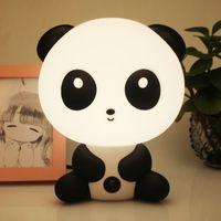 ingrosso lampada da notte del fumetto panda-Panda Night Light Lampade da notte per bambini Baby Light Cartoon Animali Panda Unicorn Sleep Led Kid Lamp Bulb Lampade da tavolo per bambini Gif