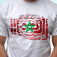 современные футболки оптовых-Марокко флаг дизайн белый майка топ современный tee-мужские женские Дети Детские sizesFunny бесплатная доставка мужская повседневная футболка топ