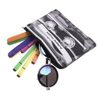 смешивать косметику оптовых-Mix Tape 3D Beauty Case Cosmetic Bag Makeup Bag Toiletry Small Pouch Travel Organizer Shower Women Printing Pencil Bags