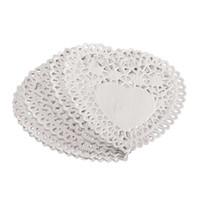 white heart lace doilies venda por atacado-Melhor 100x 4