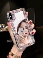 capas de iphone extravagantes venda por atacado-Fantasia simples rhinestone shinning phone case para iphone x xs max xr espelho tampa transparente para iphone 6 6 s 6 plus 7 7 mais 8 8 mais