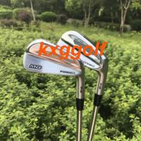 golf pw al por mayor-2018 Nuevos hierros de golf MB 718 set de hierros forjados (3 4 5 6 7 8 9 Pw) con eje dinámico de acero dorado 8pcs palos de golf