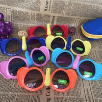 Wholesale elephant frame resale online - 2019 style Kids Boys Girls Colorful Sunglasses Little Elephant Style UV400 Protection Cute Shades Eyewear Sunglasses