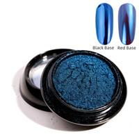 gel metálico para uñas al por mayor-Decoración de uñas brillo del maquillaje en polvo de manicura del arte del pigmento UV Gel espejo metálico iridiscente bricolaje polvo de pulido de Super Shine