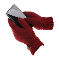 Wholesale iphone screen best resale online - New Winter Knitted Wool Touch Gloves Warm Winter Best Quality glove Unisex Functiona Gloves for iPhone Touch Screen Gloves for iPad