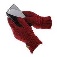 en iyi örme yün toptan satış-Yeni Kış Örme Yün Dokunmatik Eldiven Sıcak Kış En Kaliteli eldiven Unisex iPad için iPhone Dokunmatik Ekran Eldiven için Functiona Eldiven