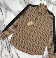 chaqueta de pasarela al por mayor-2019ss chaqueta de pasarela hombres y mujeres chaqueta de lujo solapa camisa a cuadros chaqueta de diseñador de alta calidad
