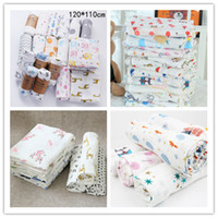 Wholesale hot blankets for sale - Group buy Infant Muslin Double Layer Blanket Baby Swaddle Wrap Stroller Cover Boys Girls Colors CARTOON Crawling Beach Batch Towels Hot LY224