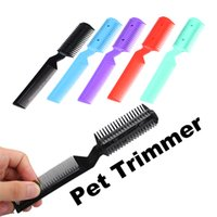 Wholesale scissors for hair cut for sale - Group buy Hot Sell Dog Hair Trimmer For Small Pet Cat Trimmer Grooming Hair Cutting Thinning Combs Scissors Pet Shears Razor Cutting new