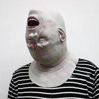 trajes extraterrestres adultos venda por atacado-Nova Máscara de Halloween Adulto Máscara de Zumbi Látex Assustador Diabo Alienígena Assustador Rosto Cheio Costume Party Cosplay Prop
