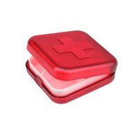 soportes de plástico para tabletas al por mayor-Nuevo Portátil 4 Ranuras Estuche para Medicina Organizador Cajas de Píldoras de Plástico Contenedor de Contenedor Medicina Tablet Holder TB Venta