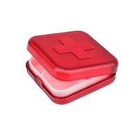 ingrosso scatola portatile di medicina-Nuovo portatile 4 slot medicina contenitore organizzatore di plastica scatole della pillola contenitore vano Medicina Tablet titolare TB Vendita