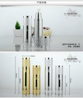 Wholesale high quality airless bottles for sale - Group buy Free High quality ml ml Silver Gold Empty Serum Bottles Vacuum Pump Bottles AS Lotion Airless Bottle