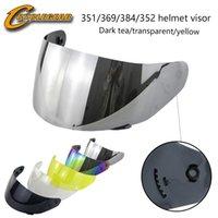 viseiras de capacete ls2 venda por atacado-Ls2 FF352351369384 Motocicleta capacete Viseira Material PC Motocicleta capacete viseira lente casco anti-scratced e anti-UV 400 atacado