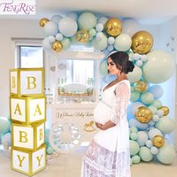 Wholesale party favors boy resale online - Gold Baby Shower Paperboard Box Baby Shower Boy Girl BabyShower First Birthday Party Decorations Decor Party Favors