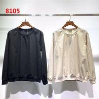 camisa de nylon homem venda por atacado-dropshipping 2019 Homens Desiger T-shirt Mulheres Casal 19ss Outono e Inverno Santo Series Nylon Fino Sweater sweater casuais camisola M-2XL 8105