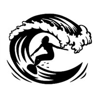 Wholesale personalized sports for sale - Group buy surfboard extrem youth passinated sports decal car sticker