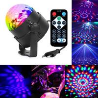 iluminação lumiere venda por atacado-RGB Cristal Magic Ball som ativado laser de Natal da bola do disco Stage Lamp Lumiere Projector Dj Club Party Light Show