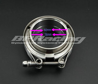 Wholesale v band clamps resale online - 2 INCH mm Stainless Steel V Band Clamp Kit Male And Female Flange Turbo Exhaust