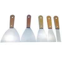 kitt werkzeuge großhandel-Holzgriff Kitt Messer Schaber Klinge Schaber Wand Vergipsen Handwerkzeug Kohlenstoffstahl Batch Messer Für Bau Werkzeuge