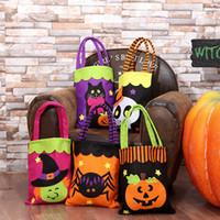 bolsas de impressão de desenhos animados venda por atacado-Saco de Compras de Halloween da moda Saco Dos Desenhos Animados Da Abóbora Do Partido Saco De Armazenamento De Impressão Saco de Halloween Crianças Doces Saco TTA1615