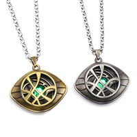 Wholesale doctor pendants resale online - Avengers Necklace Infinity War Doctor Strange Necklace Crystal Eye of Agamotto Pendant Fashion Chains Necklaces Gift Jewelry Accessories