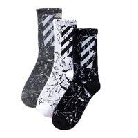 harajuku tarzı çoraplar toptan satış-Erkek kadın tasarımcı marka çorap çorap gelgit marka orijinal Harajuku tarzı ile yeni diyagonal çizgili pamuklu çorap spor Yeni stil